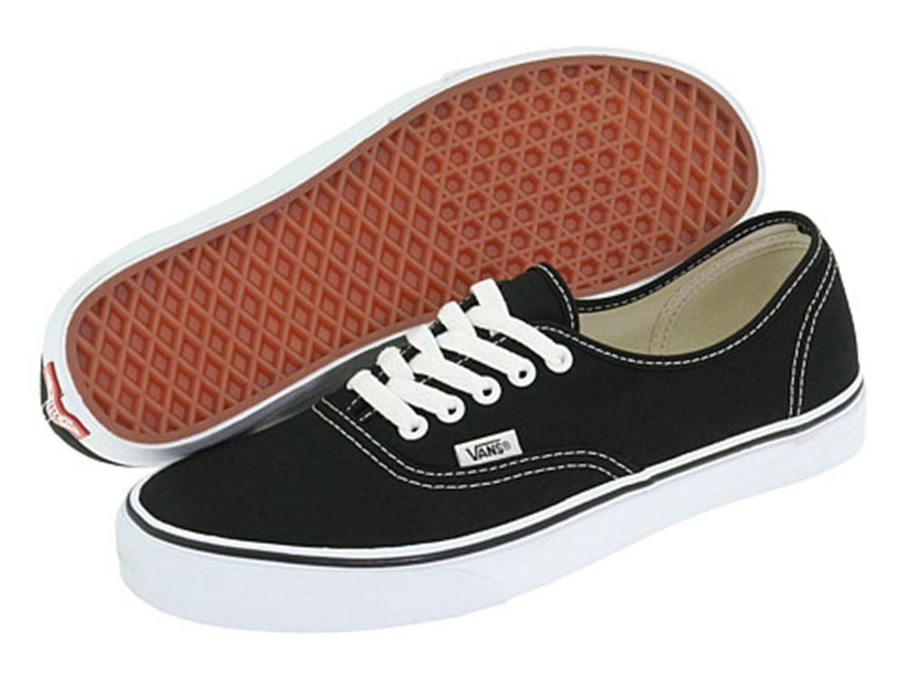 Vans classic authentic black white men's athletic shoes new without box