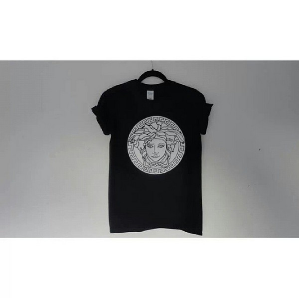 t-shirt pretty beautiful t-shirt shirt print hipster fashion blogger medusa versace