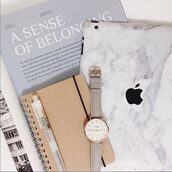 jewels,tumblr,watch,notebook,apple,stationary,macbook air