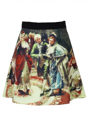 Medieval Painting Skater Skirt - Retro, Indie and Unique Fashion