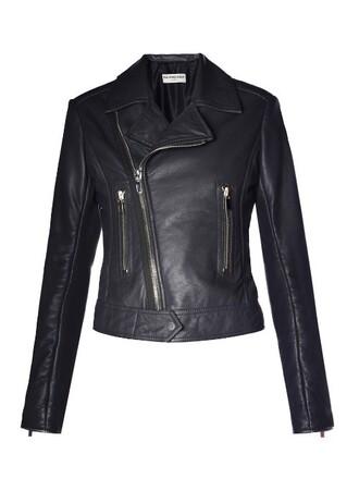 jacket biker jacket classic leather black
