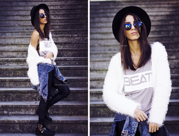 tank top grey beige fall outfits fall outfits summer warm light print print white girly urban blogger top singlet MINTFIELDS streetstyle mexiquer