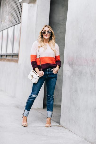 89a0cc6f2 gbo fashion blogger sweater cardigan dress gucci bag sandals fall outfits