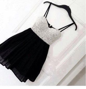 dress pearl bustier bustiedress black silver black&silver black dress