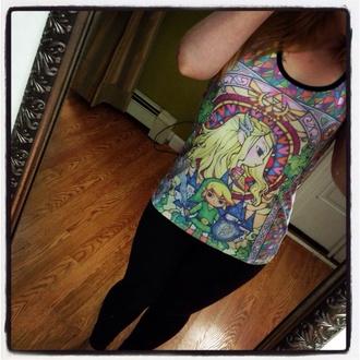 tank top zelda zelda link legend of zelda colorful stained glass princess hoodie
