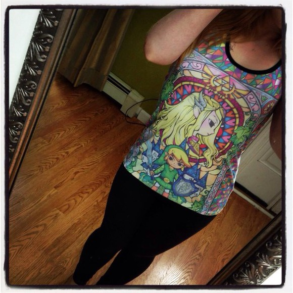 stained glass colorful tank top zelda zelda , hoodie link legend of zelda princess