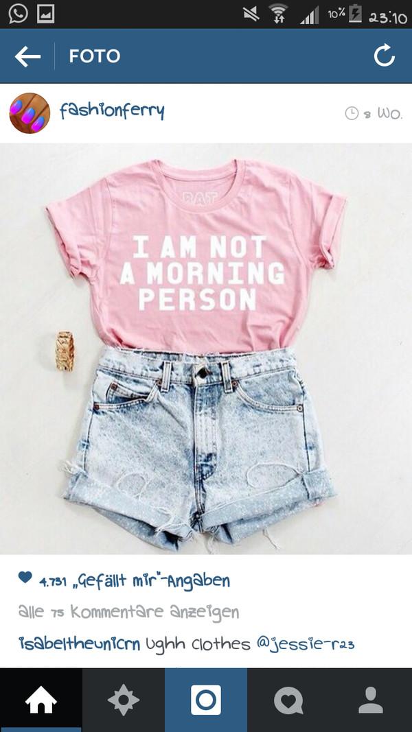 rosa white t-shirt hot pants summer stlye
