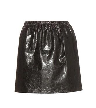 skirt leather skirt leather black