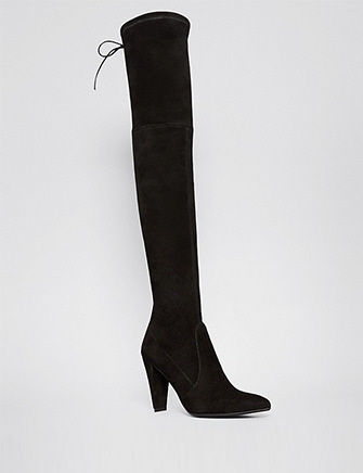 Stuart Weitzman Highstreet High Heel Pointed Toe Over The Knee Boots in Black - Avenue K