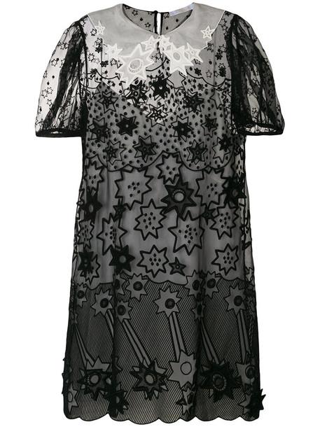 Chloe dress women cotton black silk