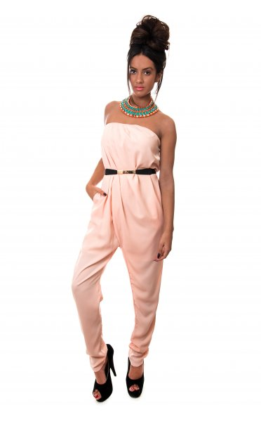 aead0f4d38 Bonita Strapless Jumpsuit in Peach - from The Fashion Bible UK