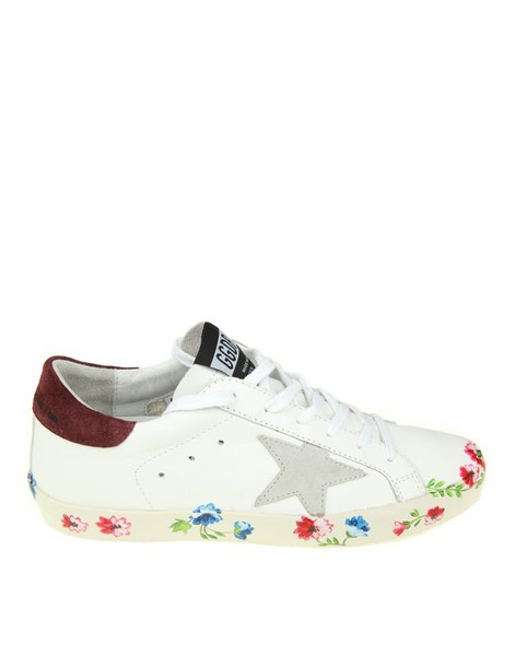 Golden goose sneakers. sneakers leather print white shoes