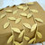Leaves Leaf Garland Ribbon Gold - 5 yards