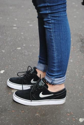 shoes nike black white sneakers nike shoes