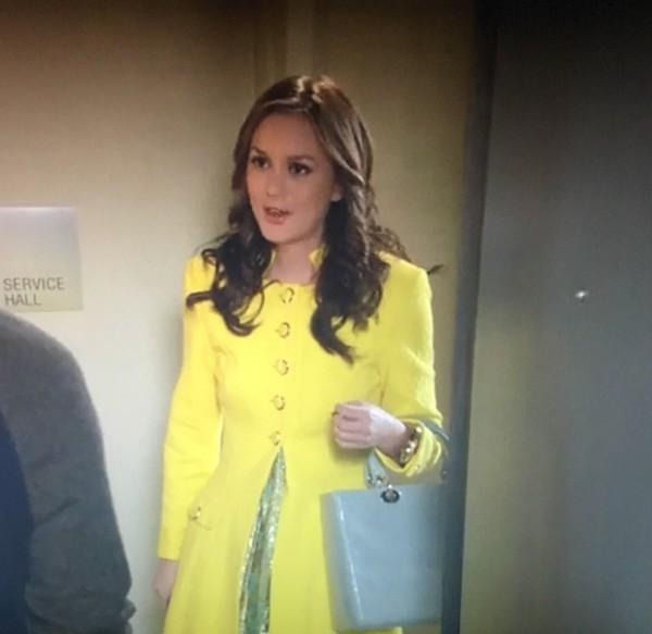coat blair waldorf yellow coat yellow coat