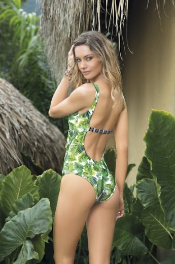 SAHA Swimwear - Palm Print One Piece | Shop Miami Style