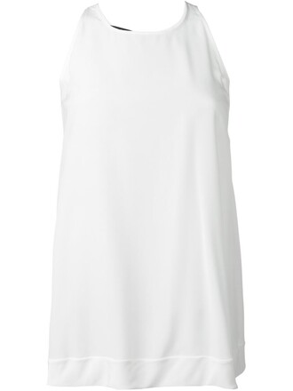 top back embroidered white