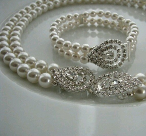 jewels pearl diamonds