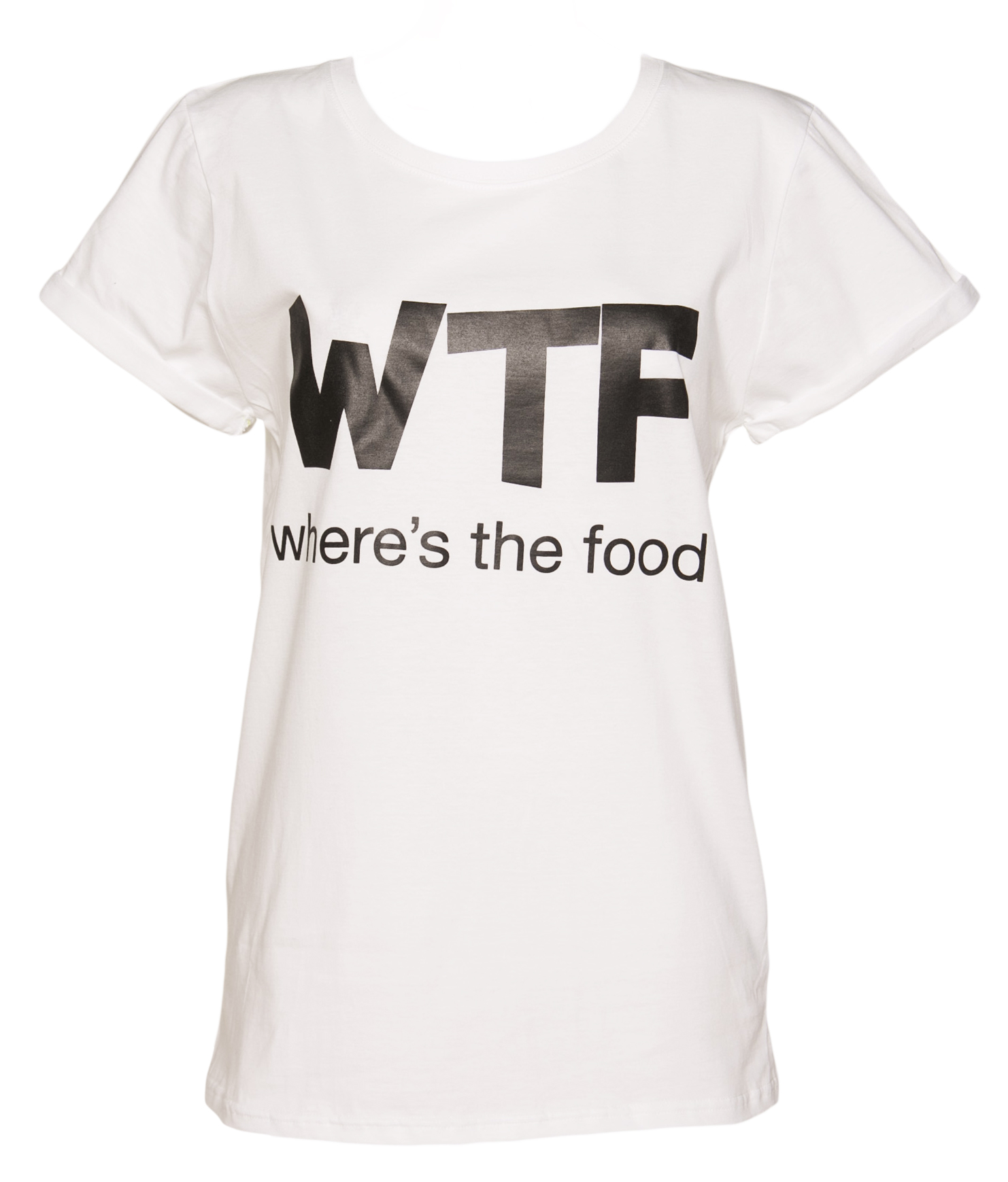 Black t shirt ebay - Official Ladies Wtf Where S The Food T Shirt Ebay
