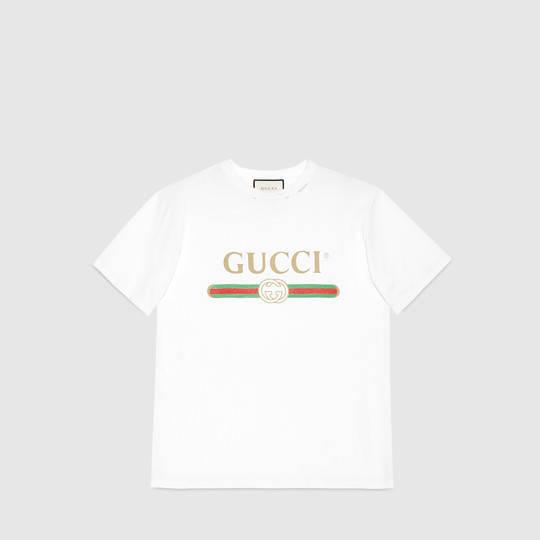 Gucci - Gucci logo cotton t-shirt