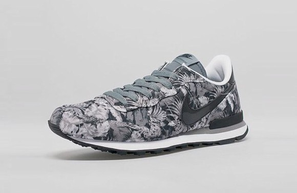 air max mens shoes floral black and white