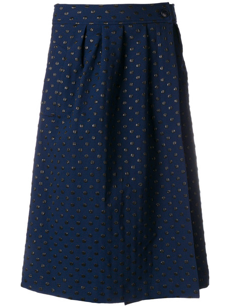 ESSENTIEL ANTWERP skirt midi skirt metallic women midi blue