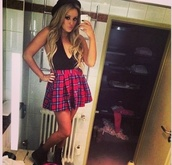 skirt,charlotte crosby,geordie shore,charlotte geordie shore,tartan