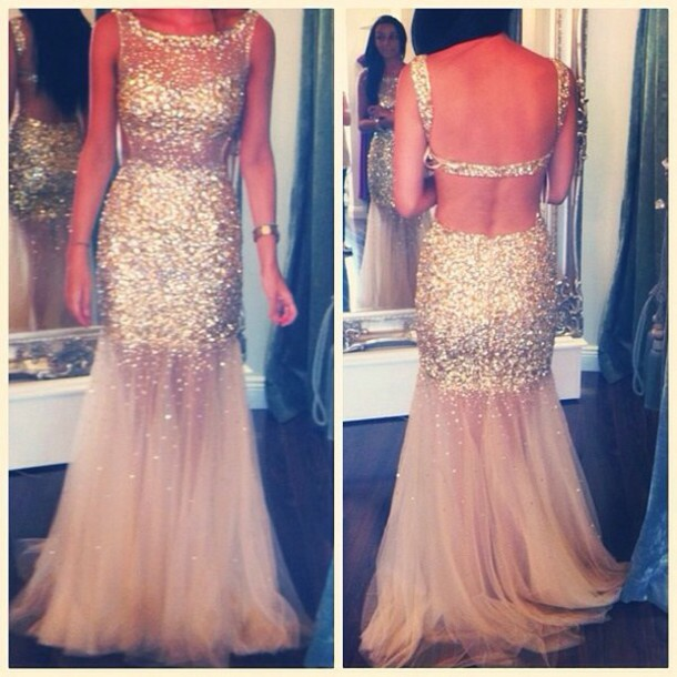 dress gold glitter clothes