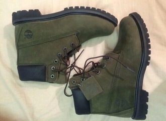 shoes army green timberland