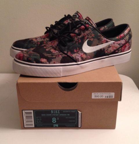 Nike SB Digital Floral Janoski Size 8 5 Digi Jordan Dunk Bred Banned Cement Camo | eBay