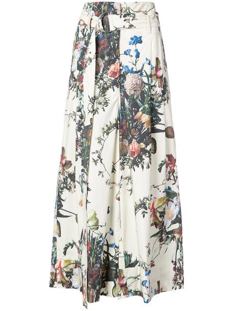 women floral cotton pants