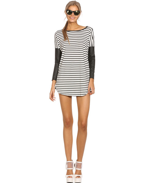 Striped couture shift dress