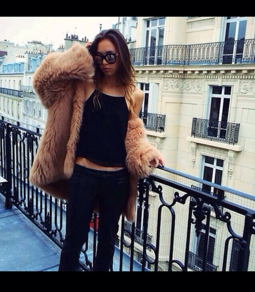 fur jacket winter outfits warm perfect