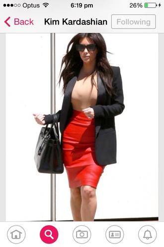 skirt kim kardashians kim kardashian keeping up with the kardashians jacket long