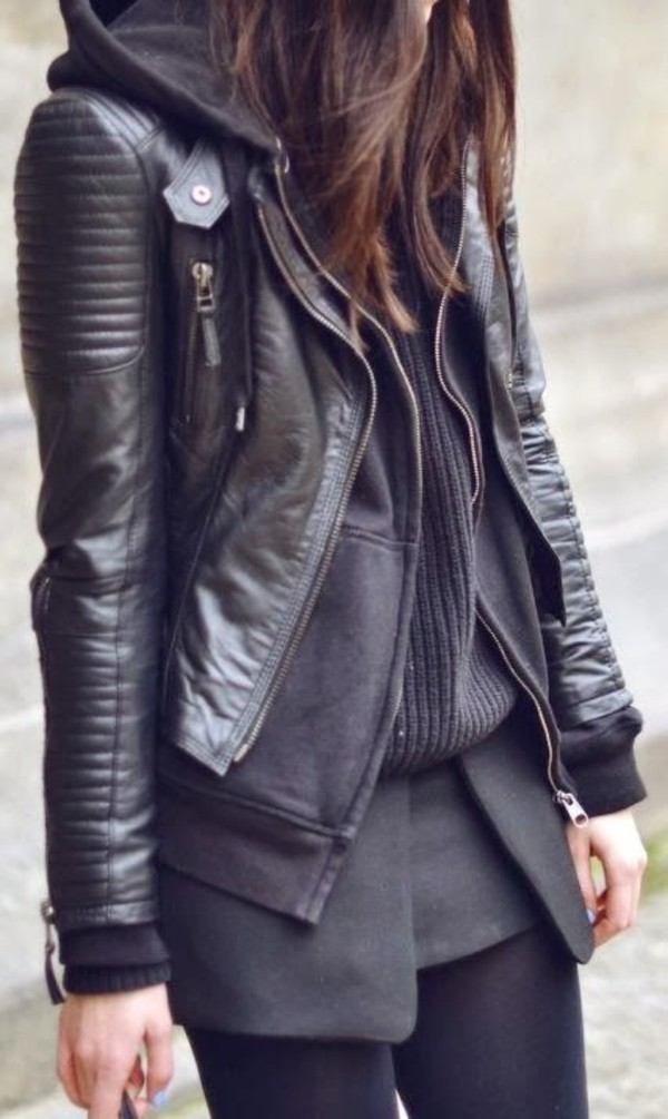 jacket leather leather jacket black cool streetstyle