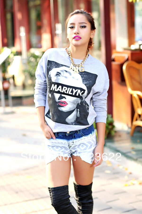 New fashion women ladies grey street chic
