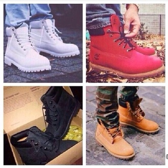 shoes red white black beige timberlands boots mens shoes white shoes red shoes