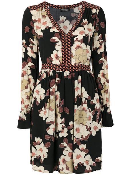 Twin-Set dress women floral black
