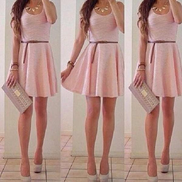 dress pink cute looking