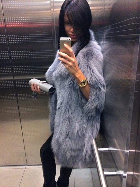 jacket fur faux fur coat elegant dress