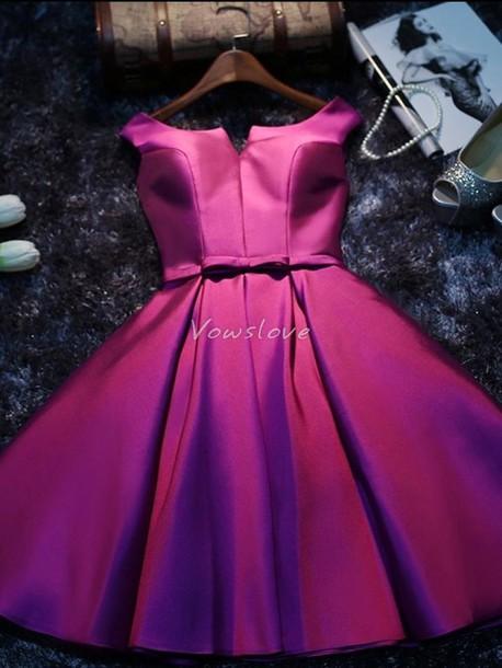 Retro Purple Cocktail Dress