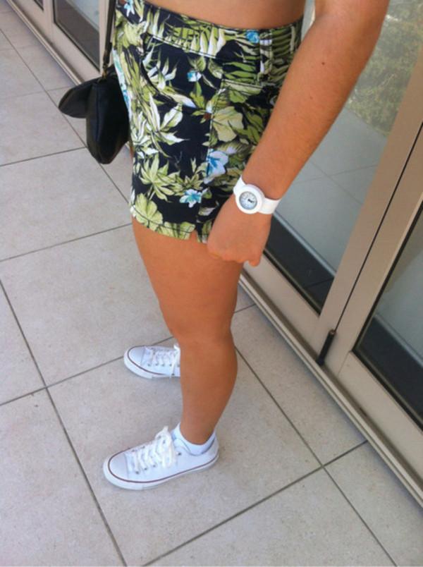 shorts tropical tropical tumblr shorts summer clothes