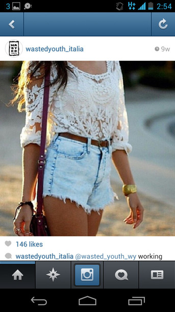 blouse white lace top