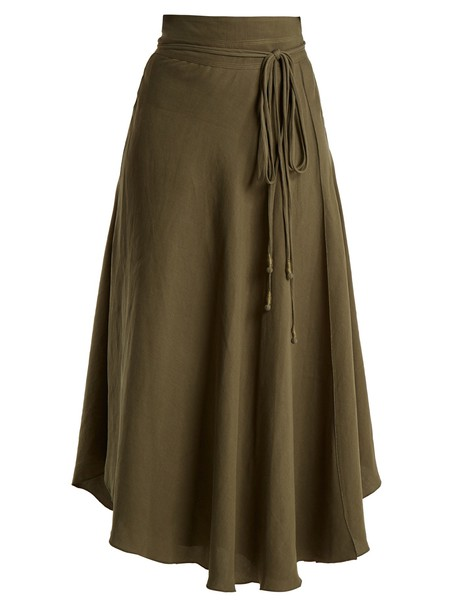 Apiece Apart skirt dark green