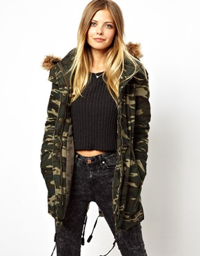 Noisy May | Noisy May Camo Parka at ASOS