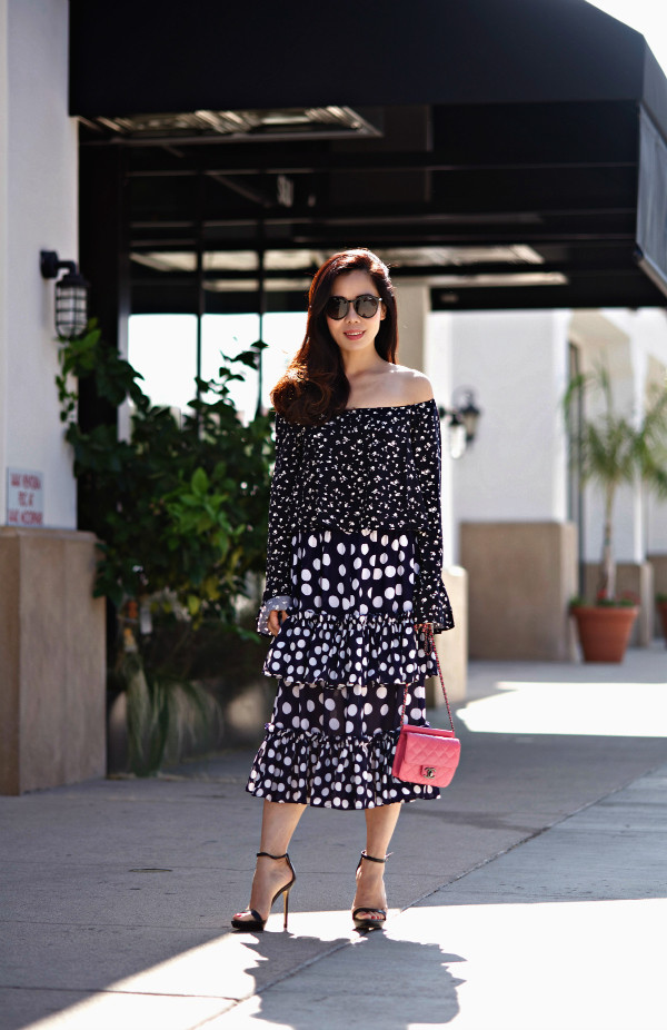 hallie daily top skirt bag shoes sunglasses