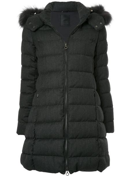 jacket puffer jacket women wool grey