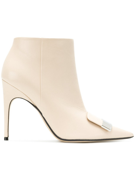 Sergio Rossi women ankle boots leather nude shoes