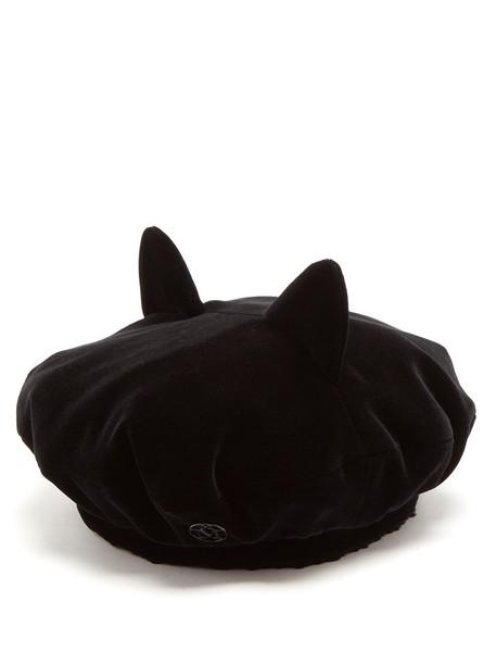 Maison Michel beret velvet black hat