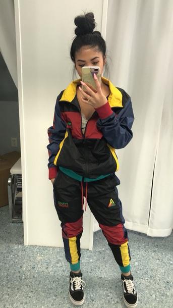 jacket black pyramid tracksuit track pants trendy sportswear